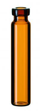 Inj.flaske 1,2 ml 8 mm kr., 40x8,2mm, brun, 100stk